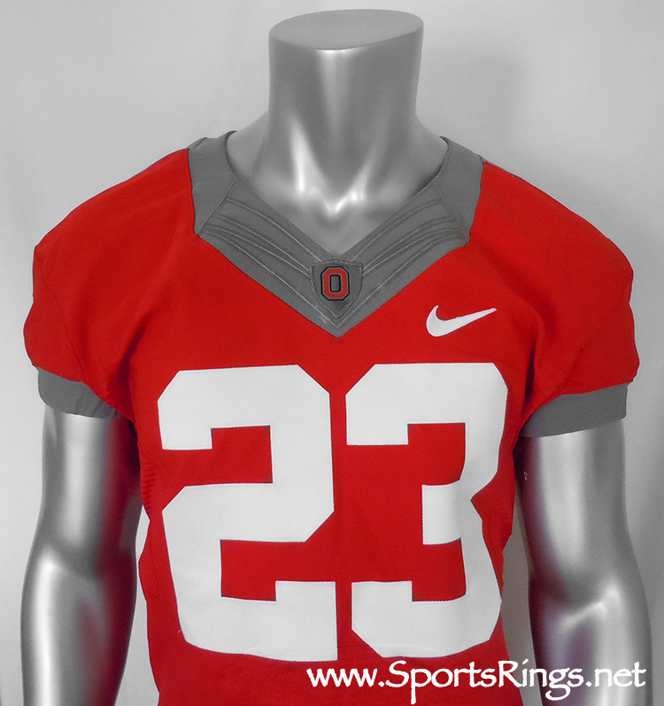 Ohio State Football  61 Throwback Nike Pro Combat Throwback Rivalry Game  Worn Player s Jersey!!(vs Wisconsin)- 23 ddf040f0f