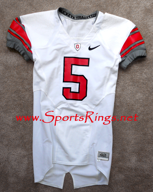 2009 Ohio State Football Nike Pro Combat Rivalry Game Worn Starting Player's Jersey