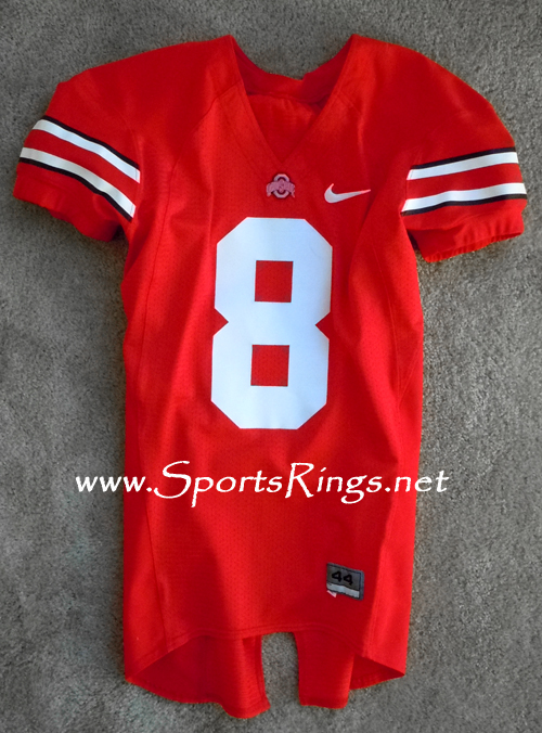 Ohio State Buckeyes Football Scarlet Game Worn Player's Jersey-#8