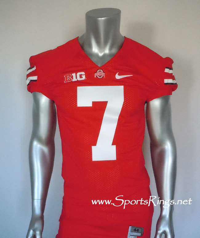 2012 Ohio State Buckeyes Football #7 Scarlet Game Worn Player's Jersey!!