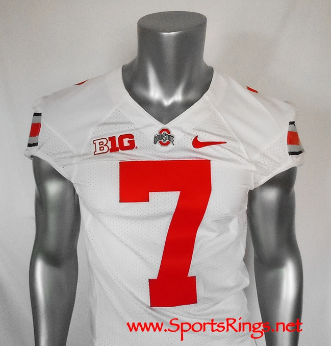 Ohio State Buckeyes Football Road Game Worn Starting Player s Jersey- 7  Jordan Hall-Starting RB and Captain!! 5a2525568