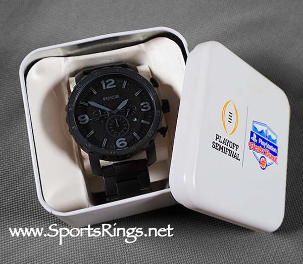"2017 Ohio State Football ""PLAYSTATION FIESTA BOWL"" Starting Player Issued Watch and Presentation Case!!"