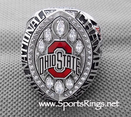 """**CURRENTLY AVAILABLE CONTACT US FOR PRICE**2014 Ohio State Buckeyes Football """"COLLEGE FOOTBALL PLAYOFF SUGAR BOWL/NATIONAL CHAMPIONSHIP"""" Authentic Former Starting Player Issued Ring!!"""