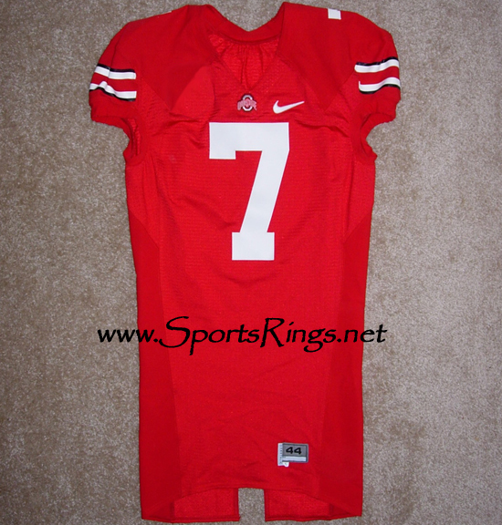 Ohio State Buckeyes Football Nike Game Worn Player's Jersey-#7