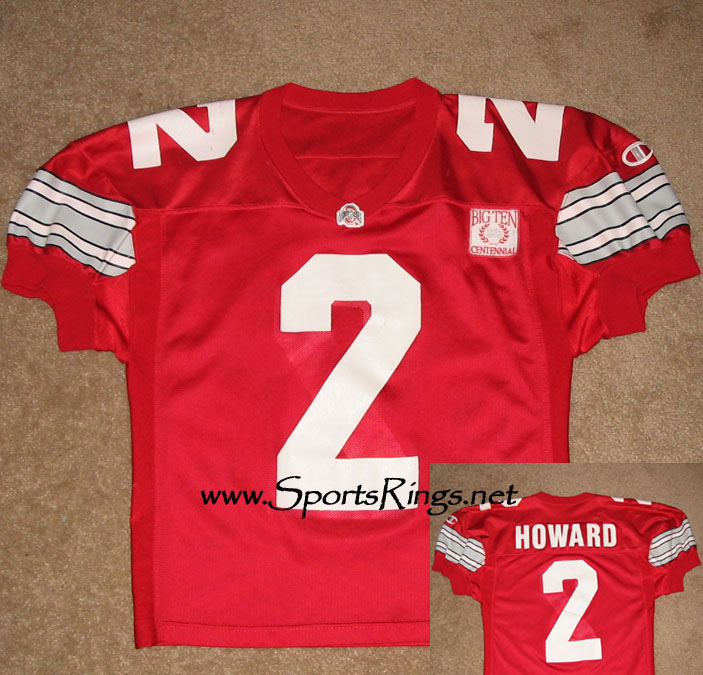 1995 Ohio State Football #2 Ty Howard Game Worn Jersey