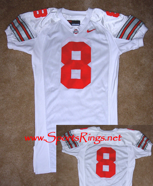 2005 Ohio State Football #8 On-Field Game Worn Jersey