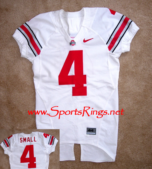 """2006 Ohio State Football """"#4 RAY SMALL"""" Game Worn Players Jersey"""