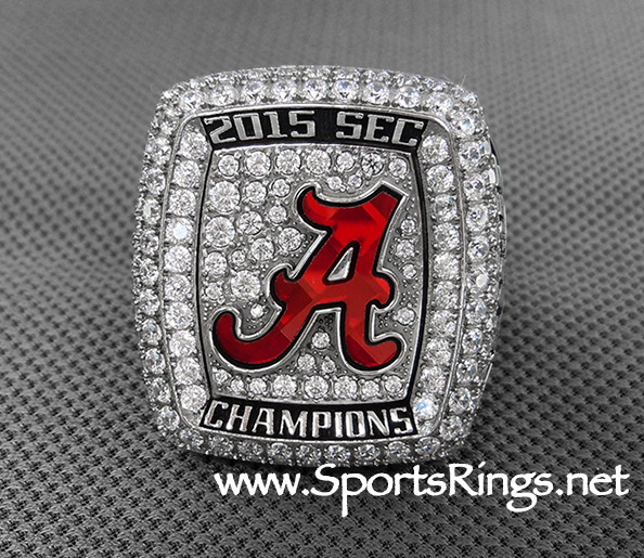 "**CURRENTLY AVAILABLE CONTACT US FOR PRICE**2015 Alabama Football ""SEC CHAMPIONSHIP"" Starting Player Issued Ring"