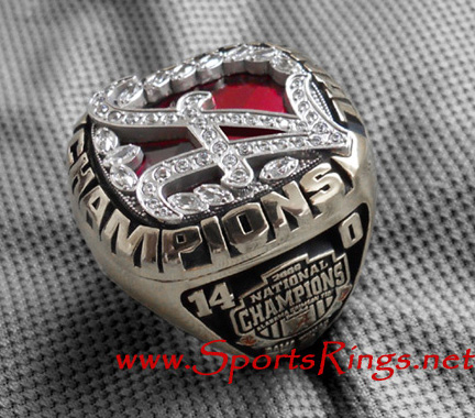 "2009 Alabama Crimson Tide Football ""NCAA NATIONAL CHAMPIONSHIP"" Authentic Former Starting Player's Ring!"