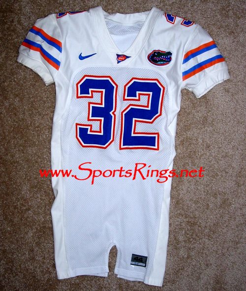 UF Florida Gators Football Game Worn Player's Jersey-#32 R. Nelson