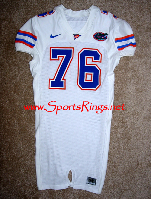 UF Florida Gators Football Game Worn Player's Jersey-#76 M. Gilbert