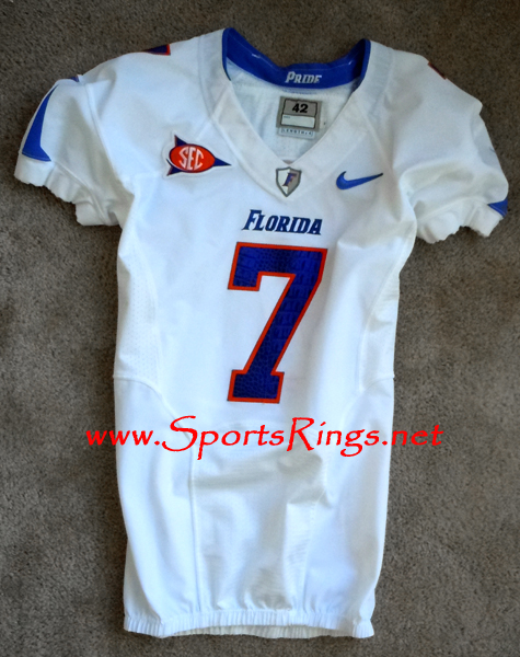 "2010 UF Gators ""Florida-Georgia"" Nike Pro Combat Rivalry Player's Game Worn Jersey"