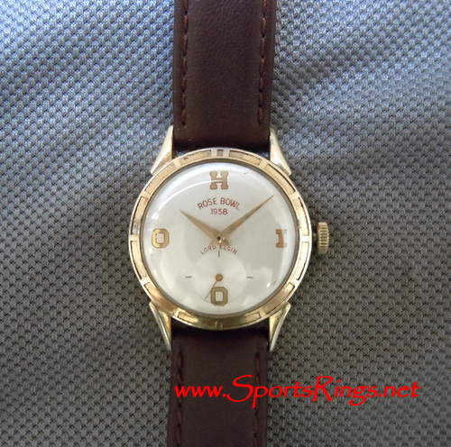 "1957 Ohio State Football ""NATIONAL CHAMPIONSHIP"" 10K Lord Elgin Player's Watch"