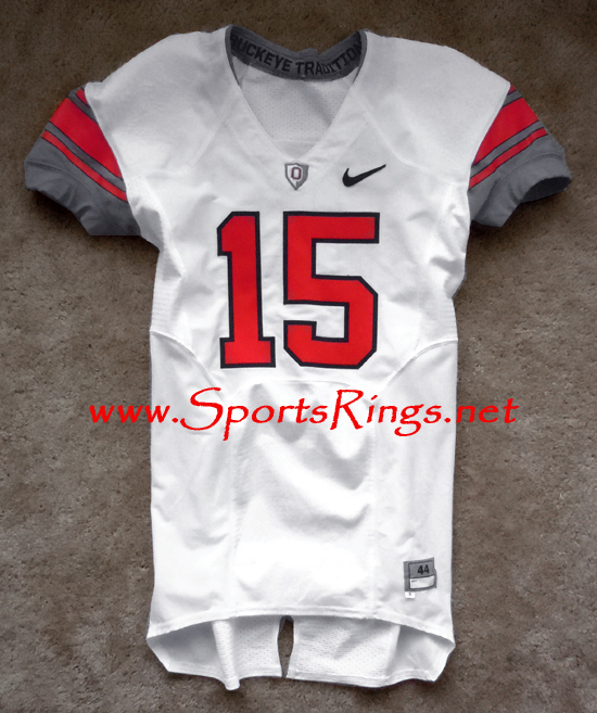 2009 Ohio State Football Nike Pro Combat Rivalry Game Worn Player's Jersey-#15