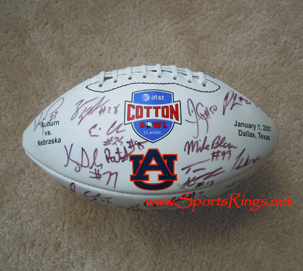 "2007 Auburn Tigers Football ""Cotton Bowl Championship"" Player Issued Auto'd Football"