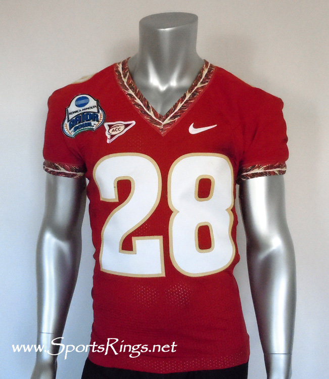 "2010 Florida State Seminoles Football ""GATOR BOWL CHAMPIONSHIP"" Game Worn Player's Jersey-#28 D. ALLEN!"