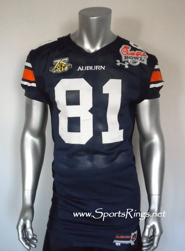 "UA Tigers Football ""Chick-Fil-A Bowl Championship"" Game Worn Player's Jersey-#81 T. Zachery!"