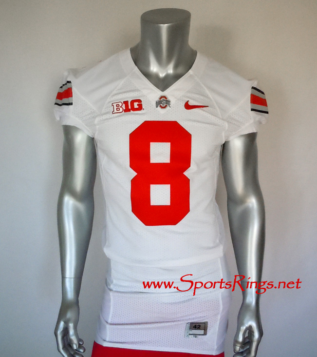 2012 Ohio State Buckeyes Football #8 Game Worn Player's Jersey!!