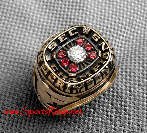 "1989 Alabama Crimson Tide Football ""SEC Championship"" 10K Gold Starting Team Captains Ring!"