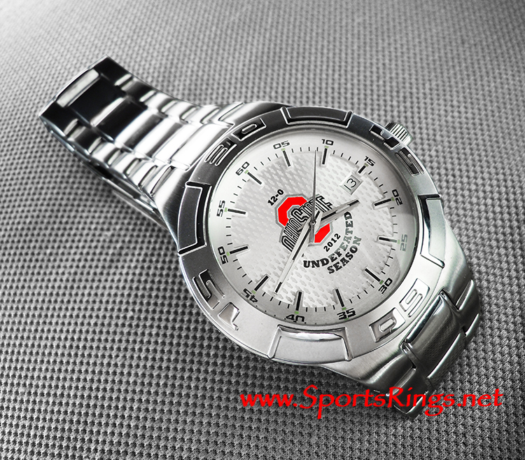 "2012 Ohio State Football ""Leaders Division Championship 12-0"" Starting Player Issued Watch"