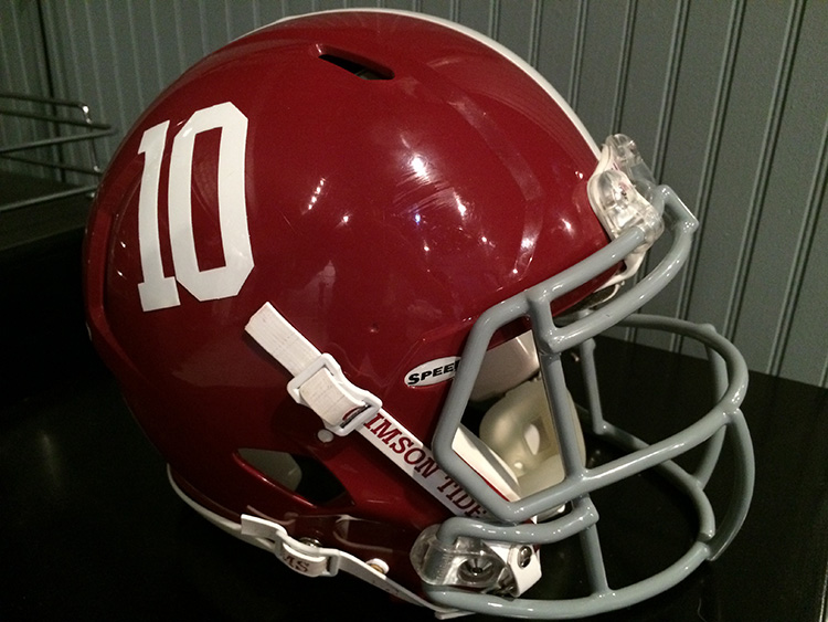"2013 Alabama Crimson Tide Football"" #10 AJ McCarren"" Game Worn Player's Helmet!!"