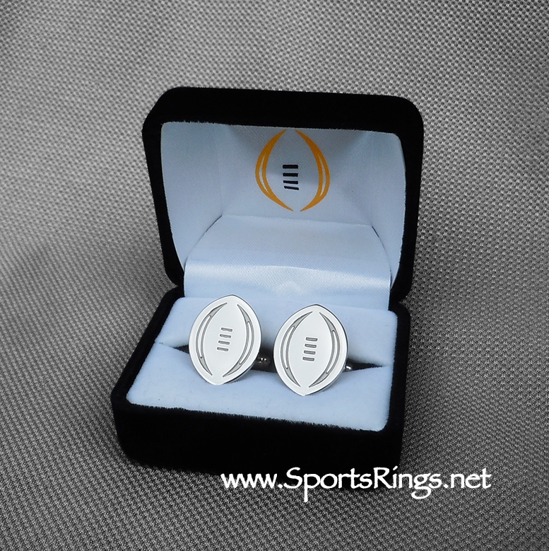 "2015 Ohio State Buckeyes Football ""College Football Playoff National Championship"" Former Starting Player Issued Genuine Sterling Silver(.925) Cufflinks!!"