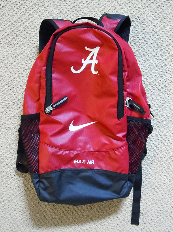 Alabama Crimson Tide Football Player Issued Nike Backpack