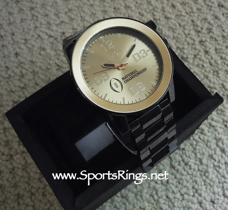 """2016 Alabama Crimson Tide Football """"College Football Playoff National Championship"""" Starting Player Issued Watch and Presentation Case!!"""