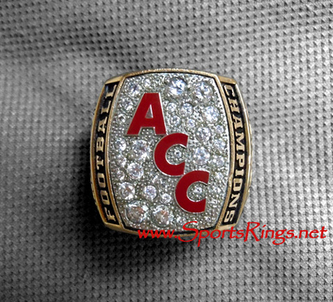 "2007 VT Virginia Tech Football ""DR. PEPPER ACC CHAMPIONSHIP"" Player's Ring"