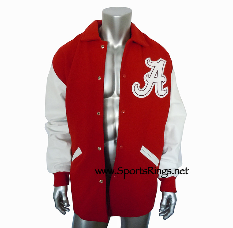 "Alabama Crimson Tide Football Starting Player Issued Official Varsity ""A"" Club Auto'd Letterman's Jacket!!(2XL)"
