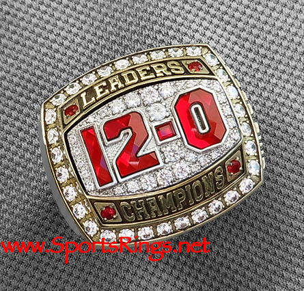 "2012 Ohio State Football ""LEADERS DIVISION CHAMPIONSHIP"" Authentic Starting Player's Ring with Display Box-12-0 Undefeated!!"