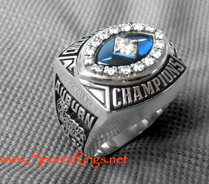 "2007 Auburn Tigers Football ""Chick-Fil-A Bowl Championship"" All-American Starting Player's Ring-#18 Kodi Burns"