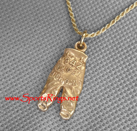 "1942 Ohio State Buckeyes Football ""NATIONAL CHAMPIONSHIP GOLD PANTS"" Starting Player's Award Charm!!"