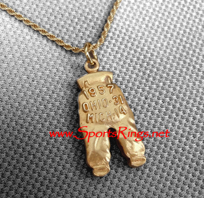 "1957 Ohio State Buckeyes Football ""NATIONAL CHAMPIONSHIP GOLD PANTS"" Player's Award Charm!!"