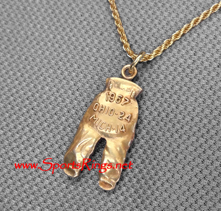 "1967 Ohio State Buckeyes Football ""GOLD PANTS"" Starting Player's Award Charm!"