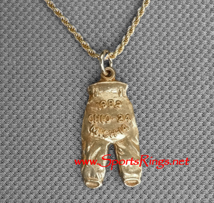 "1982 Ohio State Buckeyes Football ""GOLD PANTS"" Starting Player's Award Charm!"
