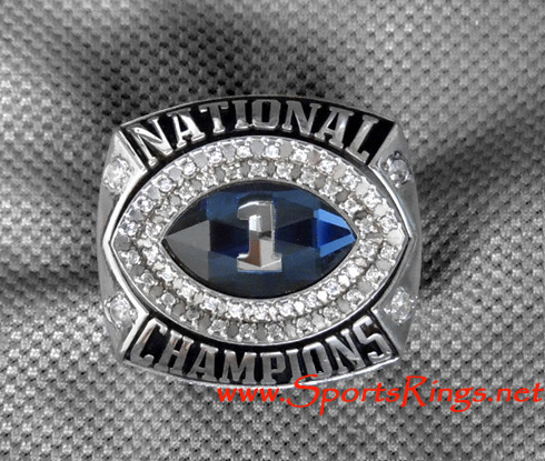 "2010 Auburn Tigers Football ""BCS NATIONAL CHAMPIONSHIP"" Authentic Starting Player's Ring"