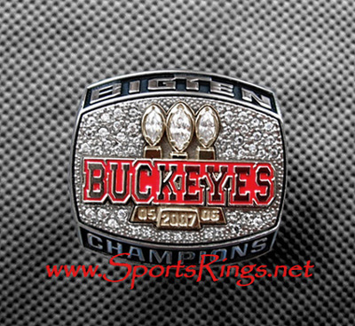 "2007 Ohio State Football ""OUTRIGHT BIG TEN CHAMPS"" Authentic Players Ring"