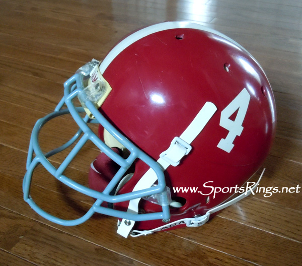 2008 Alabama Football On Field Game Worn Starters Helmet-#4 Marquis Maze-WR!
