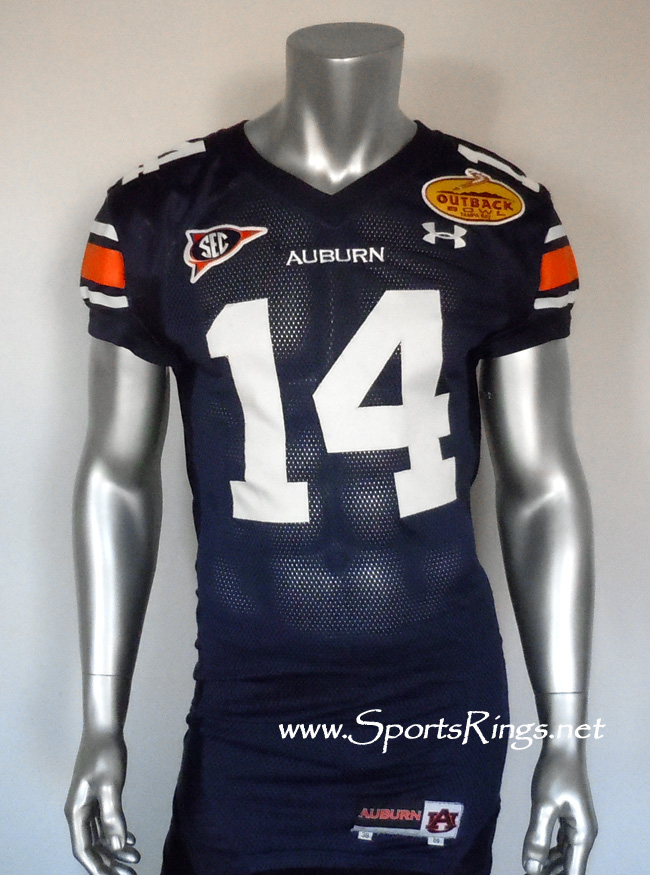 "UA Tigers Football ""Outback Bowl Championship"" Game Worn Player's Jersey-#14 Demond Washington!"