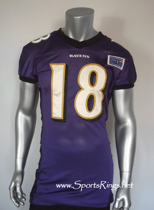Baltimore Ravens Game Worn Player's Jersey-#18 T. Zachery!
