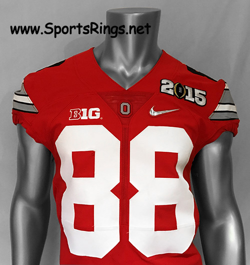 "2015 Ohio State Football Nike ""COLLEGE PLAYOFF NATIONAL CHAMPIONSHIP"" Game Worn Player's Jersey!!(vs OREGON) #88 STEVE MILLER-Starting DE"
