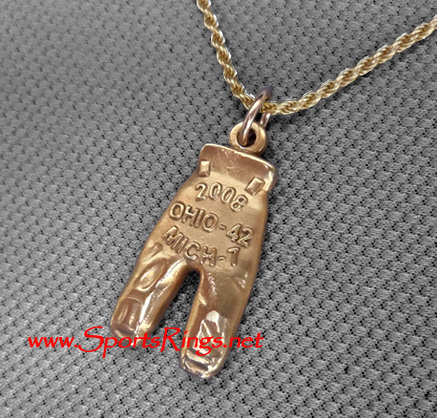 "2008 Ohio State Buckeyes Football ""GOLD PANTS"" Starting Player's Award Charm!"