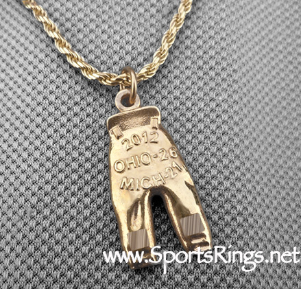 "2012 Ohio State Buckeyes Football ""GOLD PANTS"" Authentic Player Issued Award Charm!"
