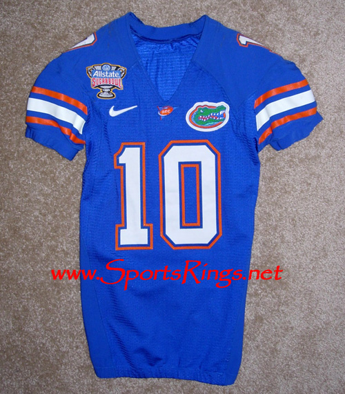 UF Gators Football Nike Game Worn Player's Jersey-#10
