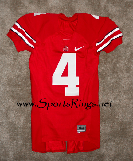 2009 Ohio State Buckeyes Football #4 Nike Game Worn Player's Jersey