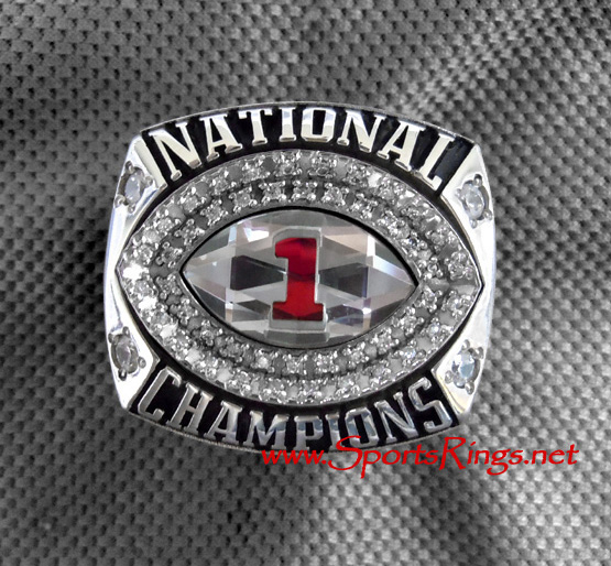 "2011 Alabama Crimson Tide Football ""BCS NATIONAL CHAMPIONSHIP"" Authentic Starting Player's Ring"