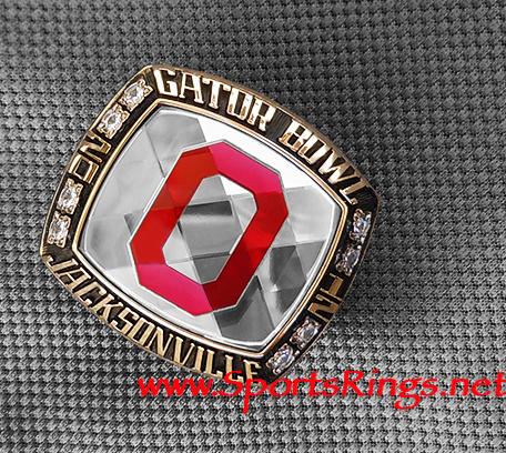 "2011 Ohio State Football ""TaxSlayer Gator Bowl"" Authentic Starting Player's Ring!"