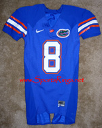 UF Florida Gators Football Game Worn Player's Jersey-#8