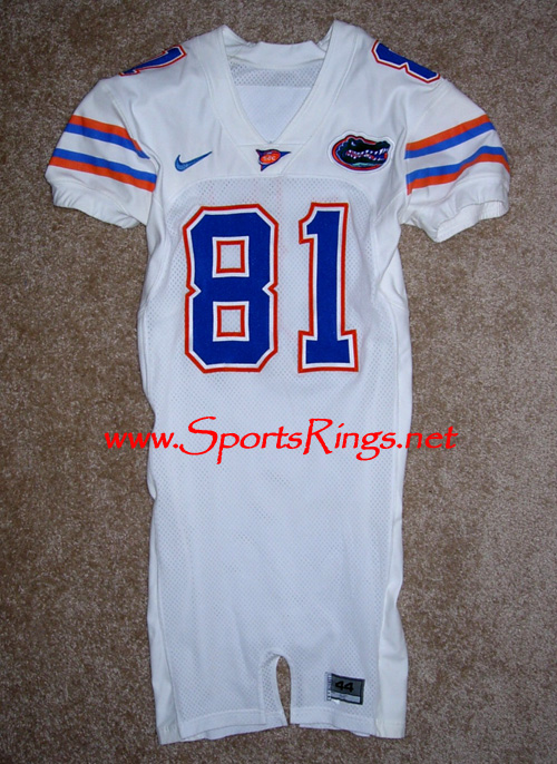 UF Florida Gators Football Game Worn Player's Jersey-#81 DALLAS BAKER